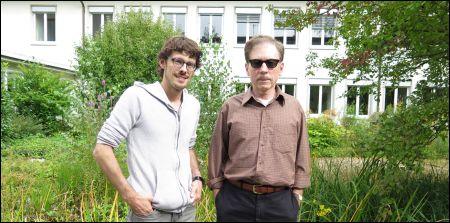Terry Zwigoff (rechts) mit Gässli Film Festival Gründer Giacun Caduff © Thomas Hägler